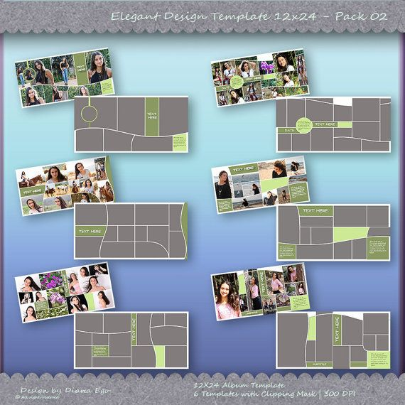Wedding Album Template Pack, Photo Collage Template, Photoshop ...
