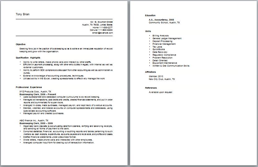 Insurance Claims Clerk Work Resume Samplecareer Resume Template Career Resume Template Sample Resume Templates Resume Examples Sample Resume