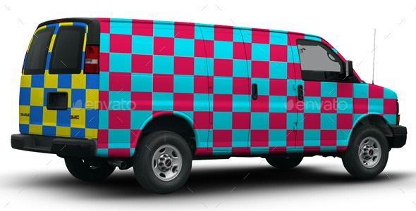 Buy 2010 GMC Savana 3500 Wrap Mock Up By Pascau On GraphicRiver. This Is A  Rear View Of A 2010 GMC Savana 3500 Delivery Van, Cropped And Isolated With  Smart ...