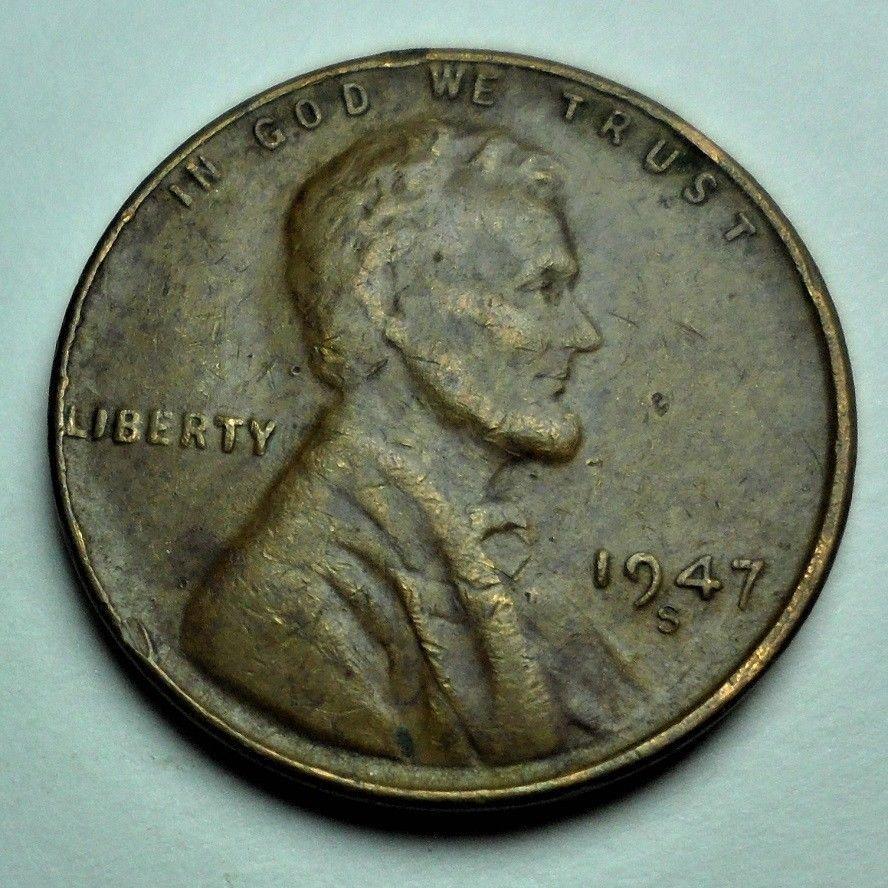 Error Errorcoins Rare 1947 S Mint Mark Location Error Lincoln Cent Error Coins Coins Numismatics