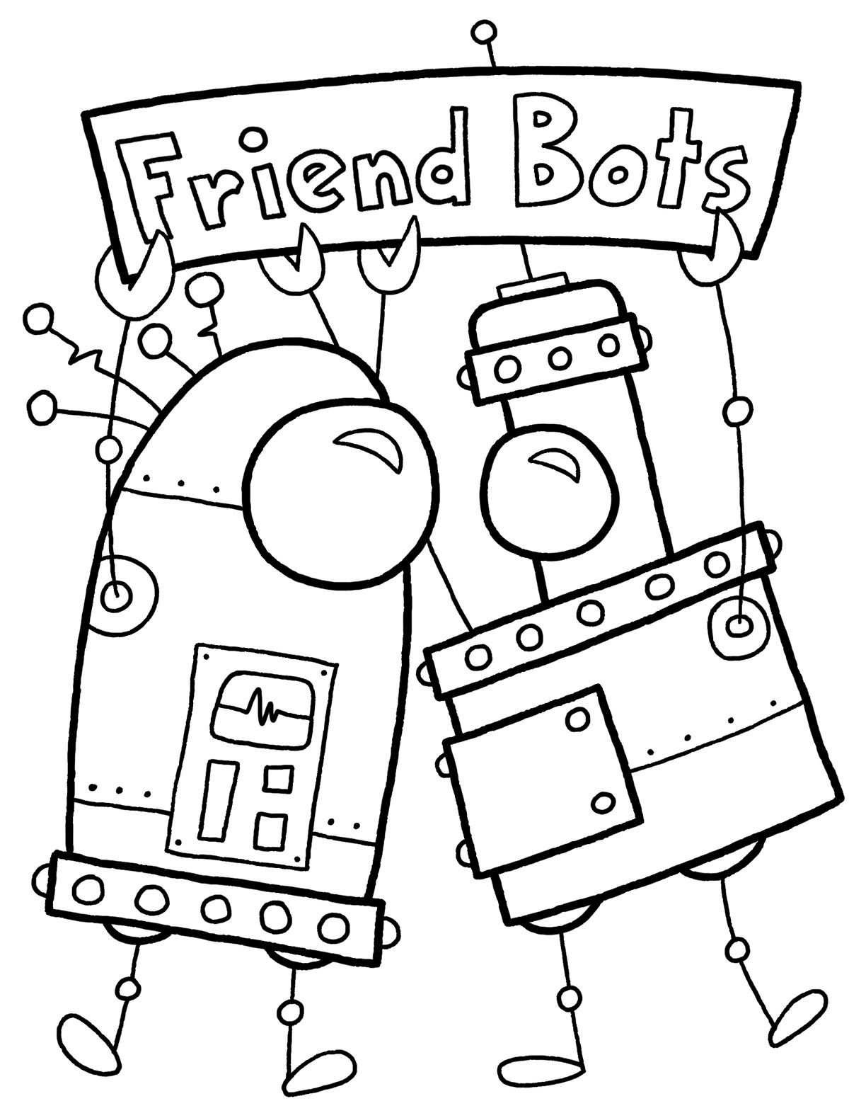 Coloring Pages For Adults Robots