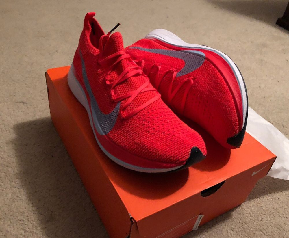 b87c446a0fa Nike Zoom VaporFly 4% FlyKnit Bright Crimson Ice Blue White Mens 10.5   fashion  clothing  shoes  accessories  mensshoes  athleticshoes (ebay link)