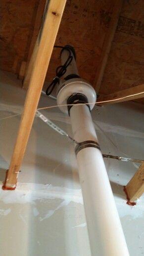 radon fan in garage vented through roof radon mitigation rh pinterest com