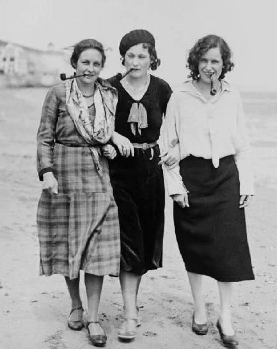 Rosa Luxemburg, Simone De Beauvoir and Emma Goldman (1930's)