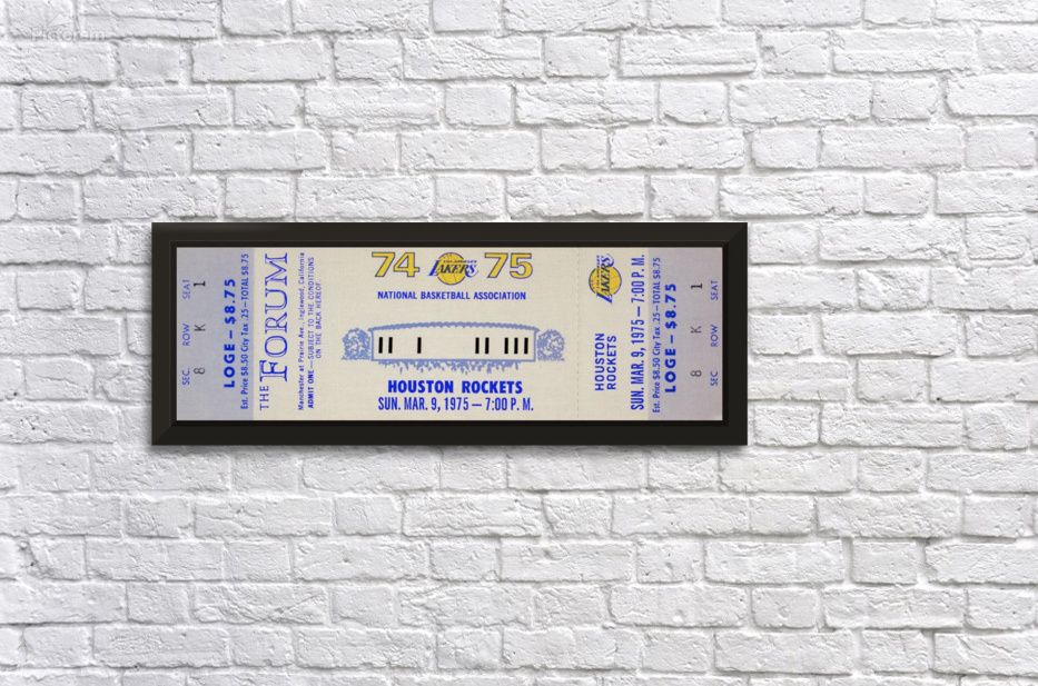 1974 los angeles lakers row one brand canvas artwork