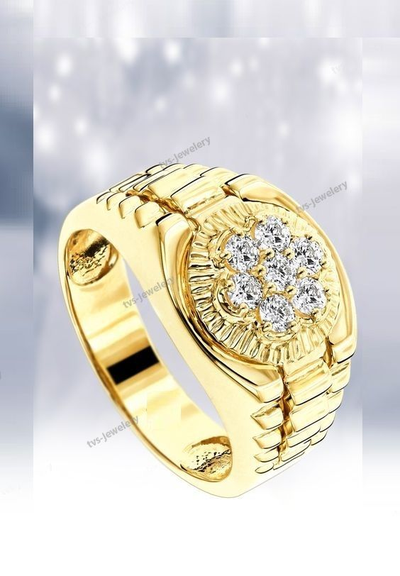 Diamond New Design Men S Engagement Wedding Pinky Ring 14k Yellow