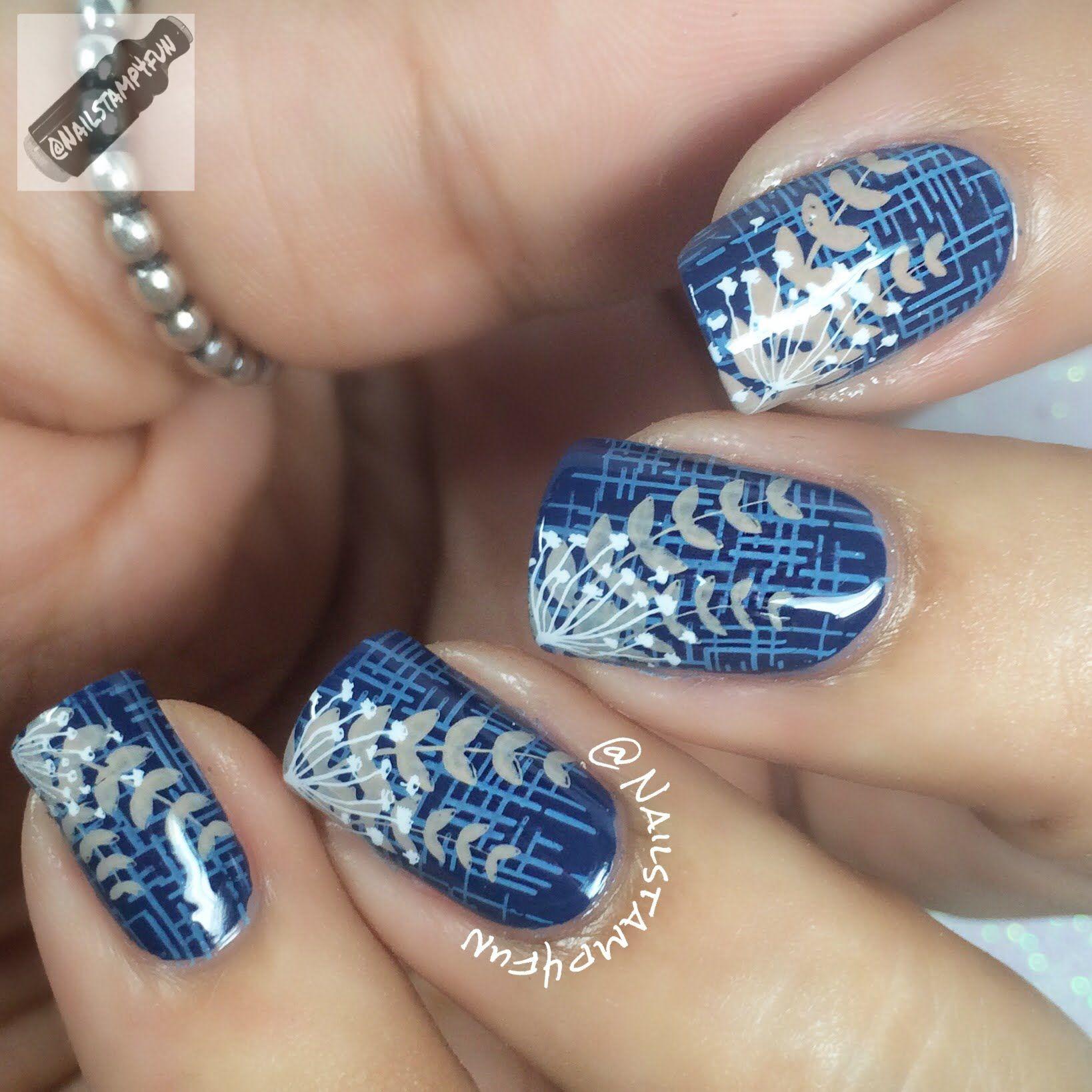 Floral nails Nail Stamping Tutorial Bundle Monster - YouTube | Nails ...