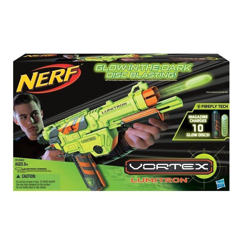 NIB Hasbro Nerf Vortex Lumitron Blaster - Glow in the dark blasting. Cool Nerf  GunsBuy ...