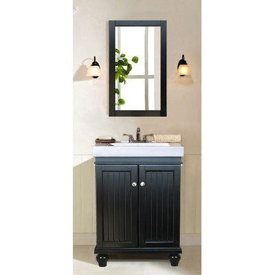 "Legion Furniture 24"" Single Bathroom Vanity Set & Reviews"
