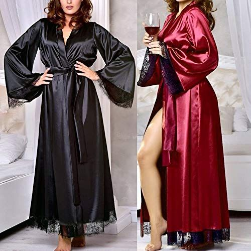 912f97390fd8 Joyance Women's Sexy Robe Bathrobe, lace Sexy Silk Satin Kimono Doll Dress  Underwear Nightdress,#Robe, #Bathrobe, #lace, #Joyance