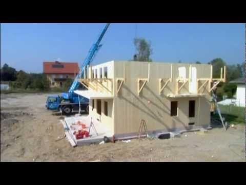 Maison en bois en kit  montage en 12h Maison en bois Pinterest