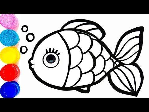 Радуга рыба Раскраски и рисования 🌈🐠 учить английский и ...