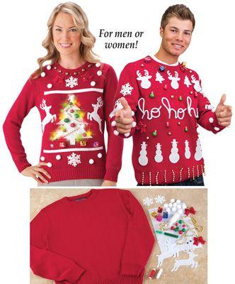 Diy Ugly Christmas Sweater Kit The Tribe Diy Ugly Christmas