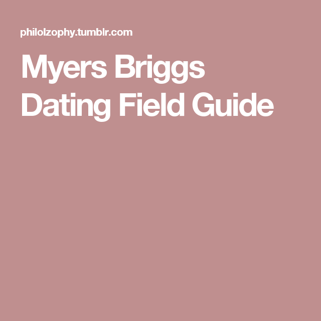 Myers briggs dating