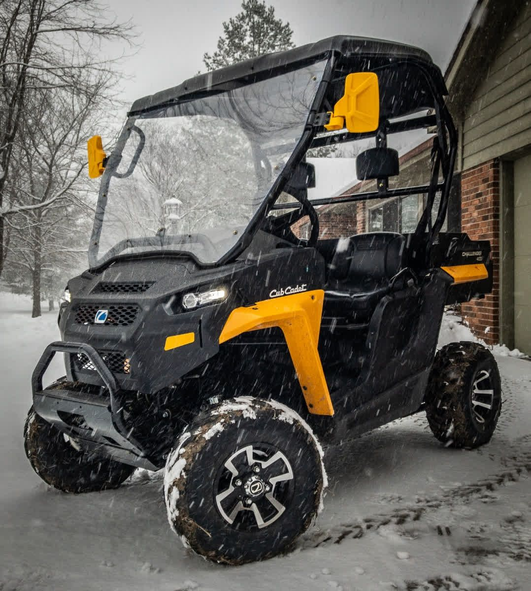 How Much Snow Did You Get This Past Weekend Check Out This Cubcadet Challenger 400 One Of Our Team Members Ran Around Monster Trucks How Much Snow Run Around
