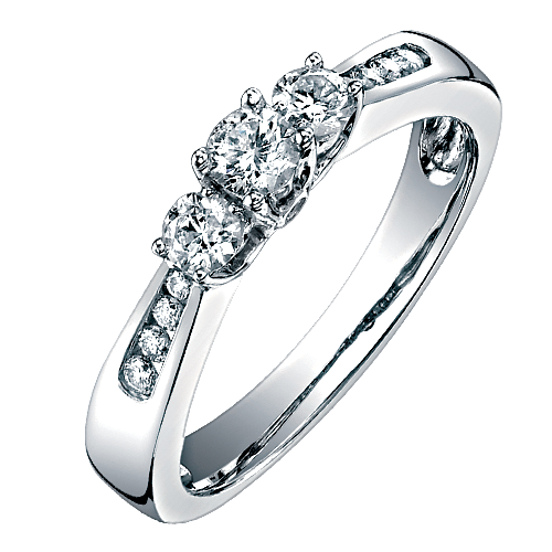10 Karat White Gold Two Hearts Engagement Ring Jensen Jewelers Helping The West Celebrate