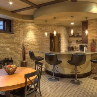 Basement Remodeling Milwaukee Decor basement corner bar design ideas, pictures, remodel and decor