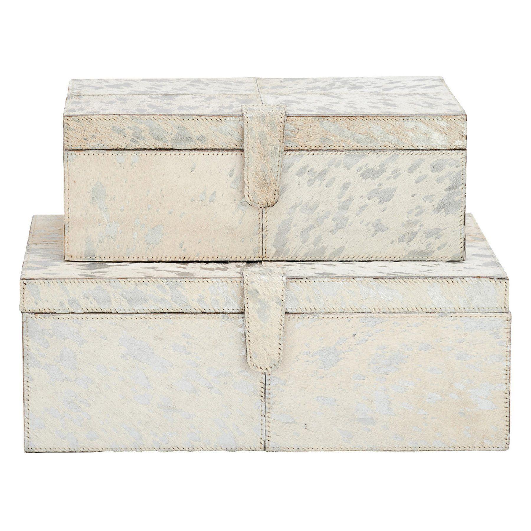 DecMode Rectangular Decorative Box - Set of 2 - 95030