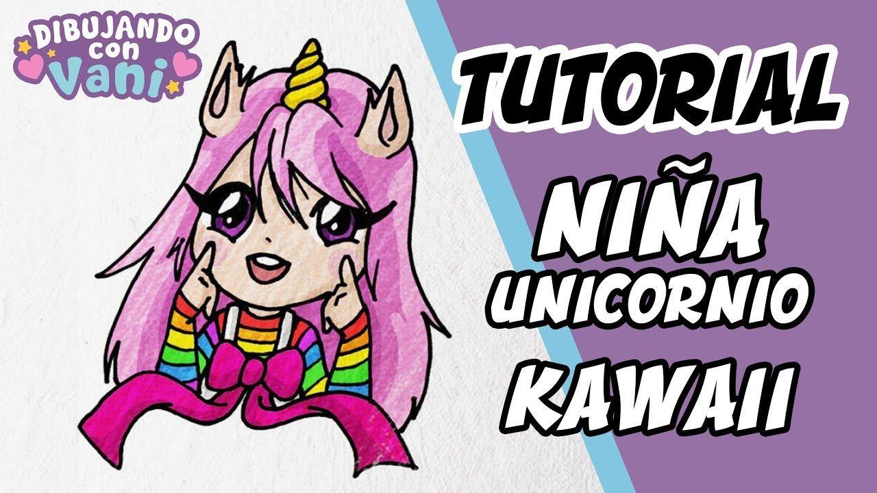 Como Dibujar Nina Unicornio Kawaii Para Ninos Dibujos Anime