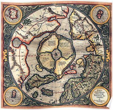 Flat Earth Old Map By Waney1 Mapas Antigos Terra Plana Mapa Mundi