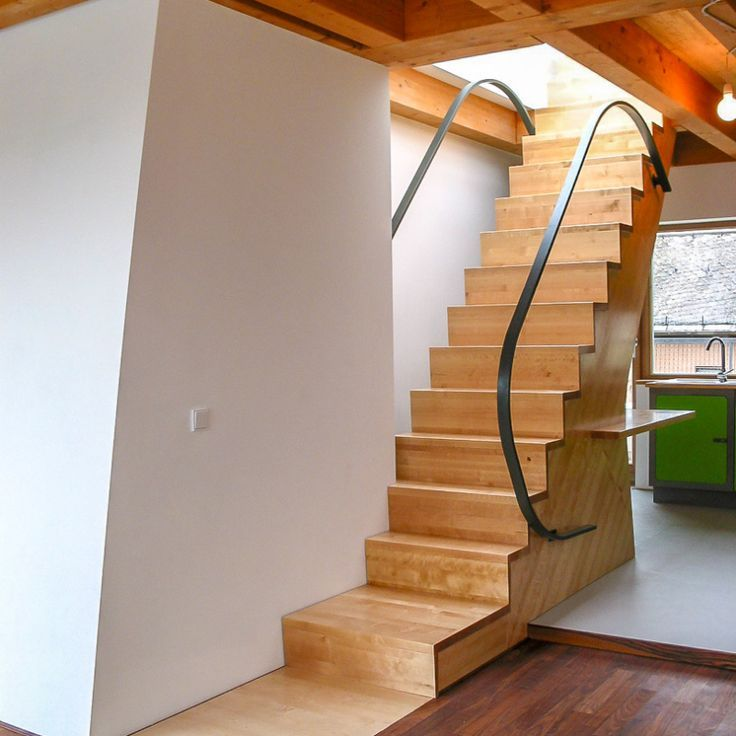 A Straight Space-saving Staircase Is Also Very Good As A