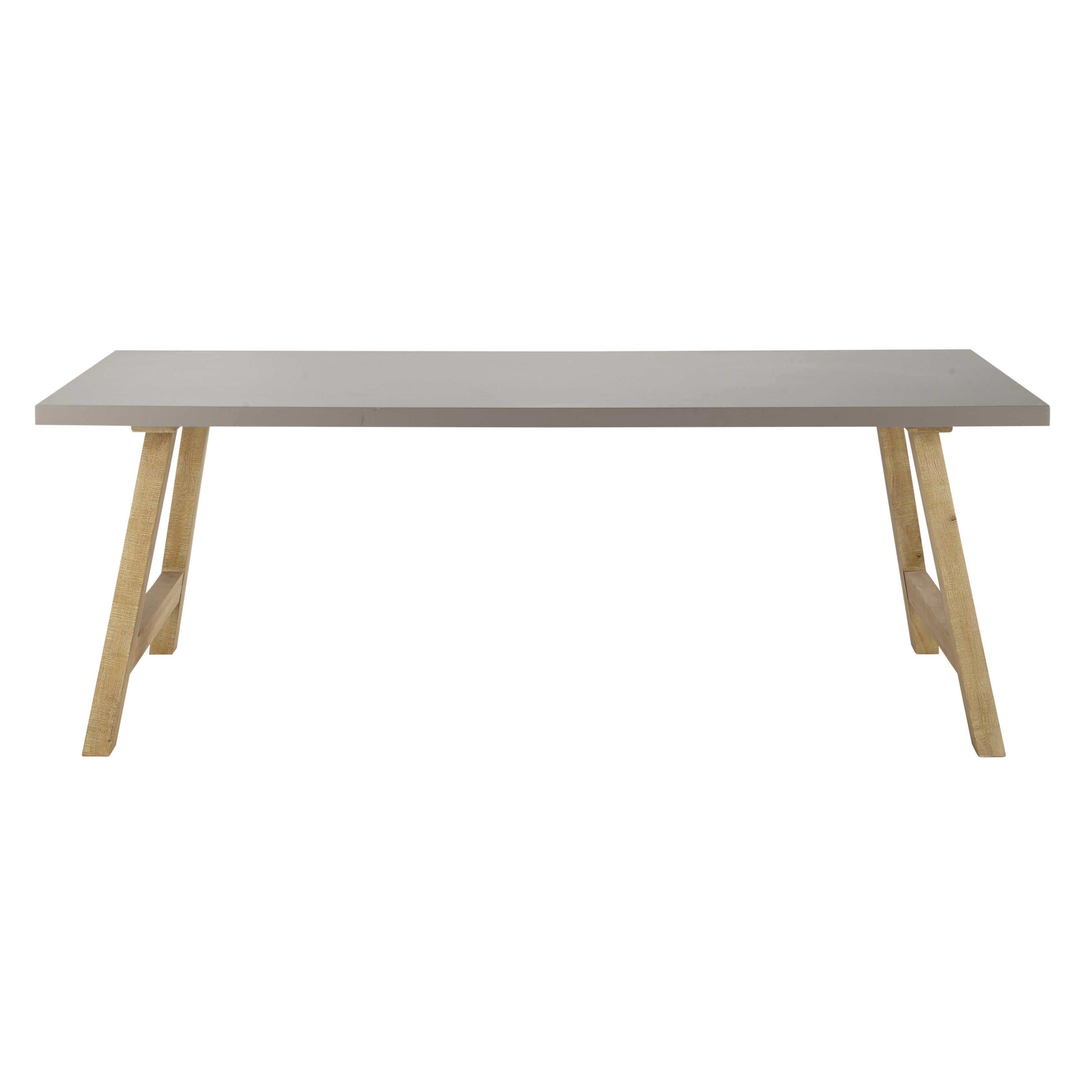 table de salle manger en bois effet bton cir l 220 cm vermont