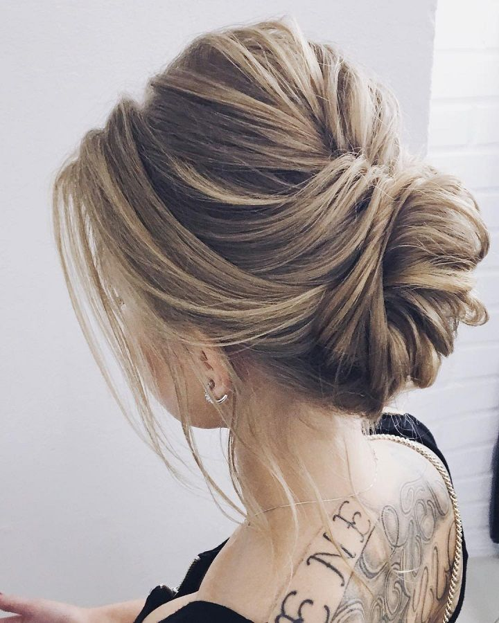 Elegant updo wedding hairstyle inspiration | wedding upstyles