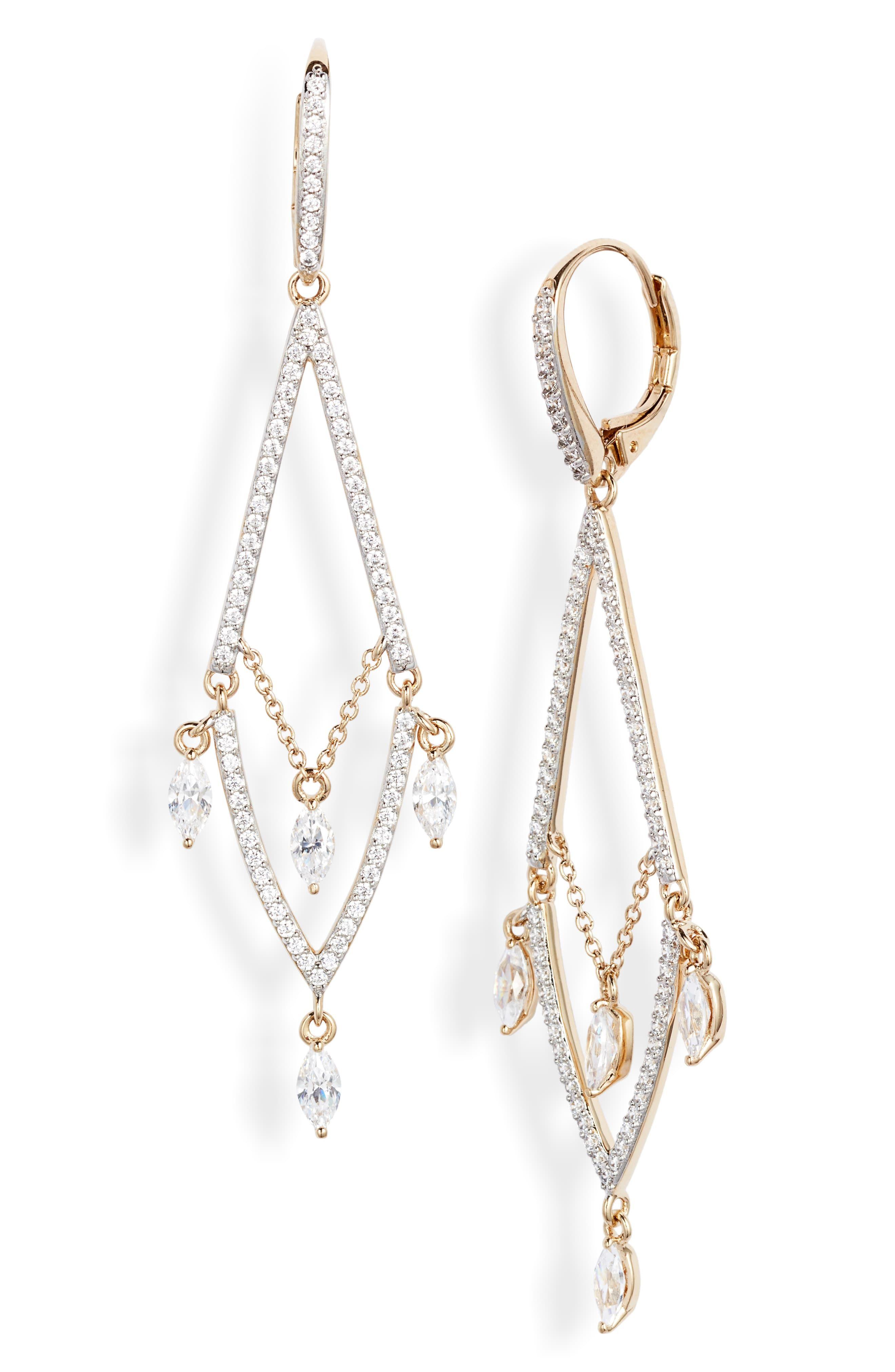 Women S Nadri Breeze Cubic Zirconia Chandelier Earrings Chandelier Earrings Nadri Cubic Zirconia