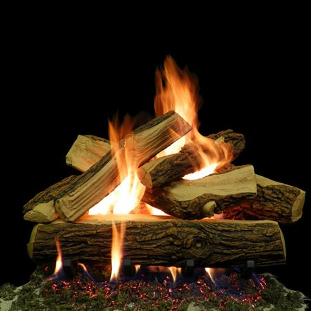 Weathered Vented Ceramic Gas Logs
