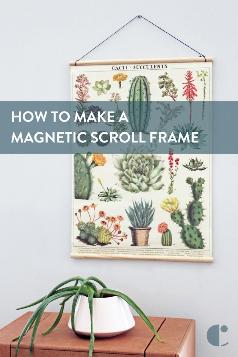 5 Minute DIY: Magnetic Scroll Frame (No Woodworking Required ...