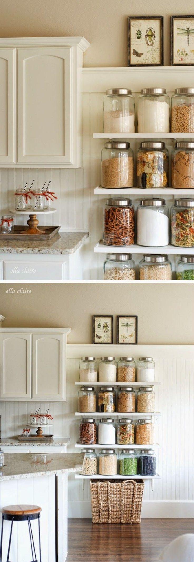 DIY Country Store Kitchen Shelves 16 Super Smart DIY