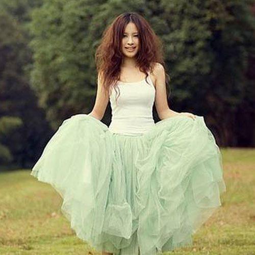 NEW Bohemia Women Girls' Tutu Skirts Stylish Sweet 5 Layers Princess Dress