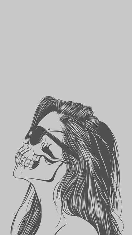 Skull Girl Sunglasses Skull Wallpaper Iphone Desktop Wallpapers Tumblr Cute Iphone Wallpaper Tumblr