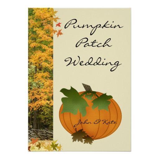 Pumpkin Patch Autumn Wedding Invitation