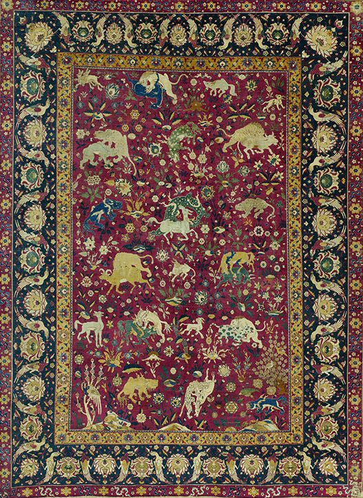 Carpet Safavid 16th Century Iran Probably Kashan