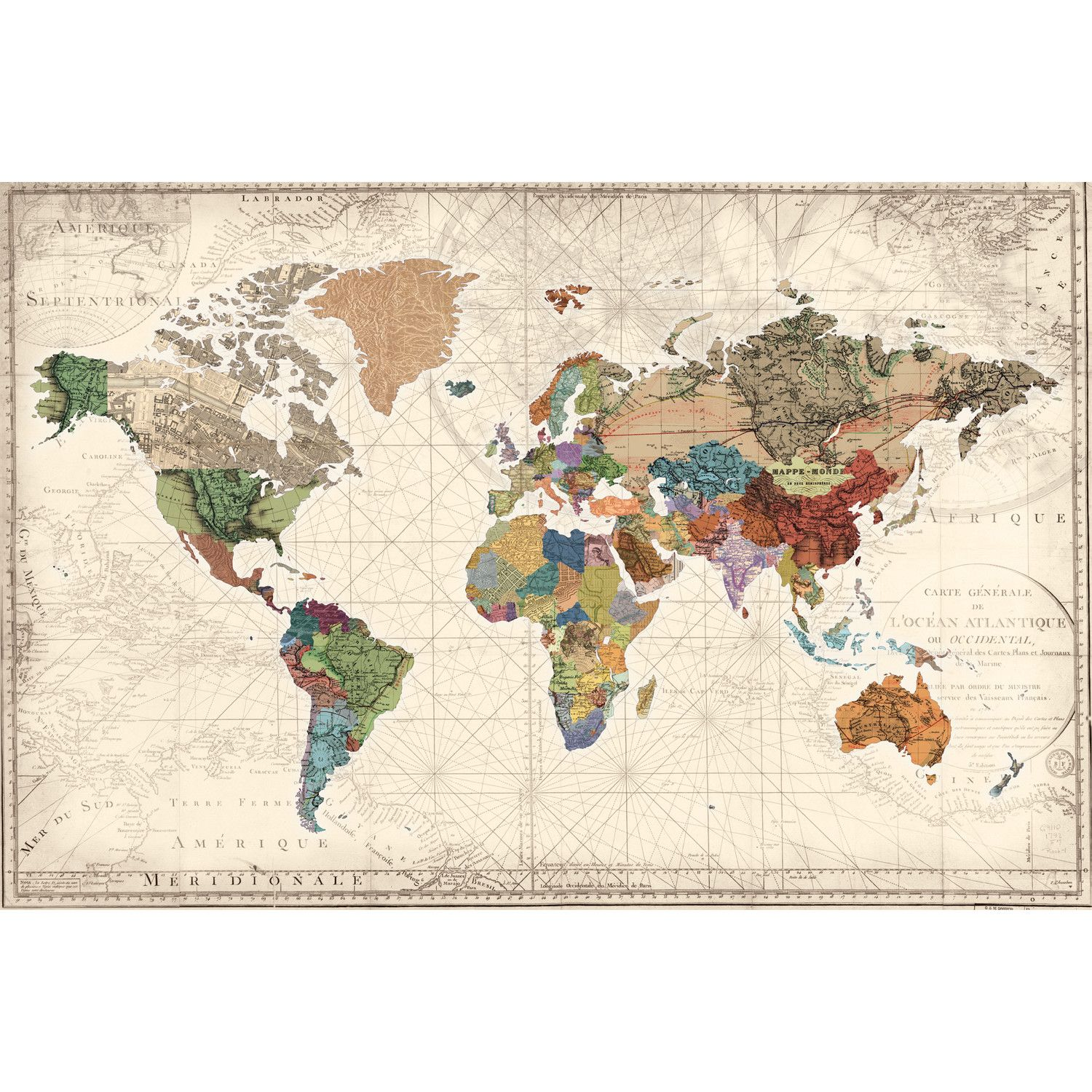 Amazon world map photo wallpaper vintage retro motif xxl amazon world map photo wallpaper vintage retro motif xxl world map mural wall decoration inspiration pinterest mural wall sciox Images