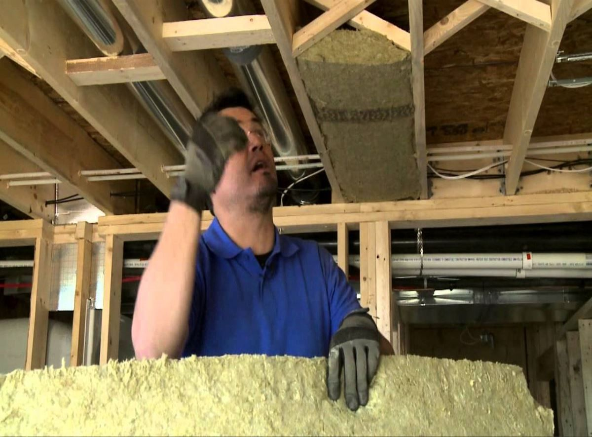 How to soundproof between existing floors in a house