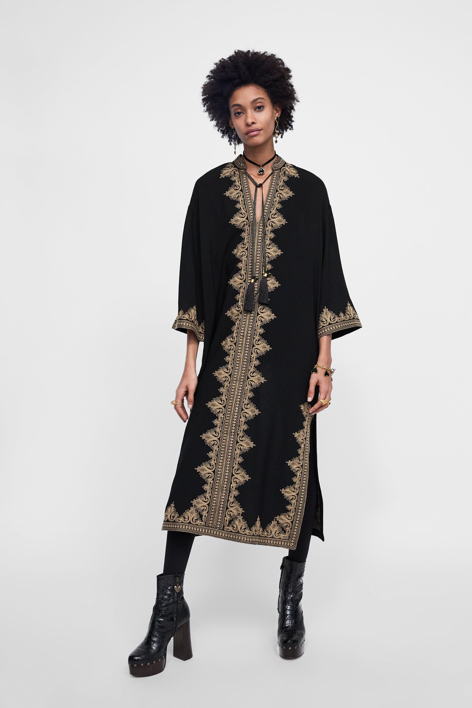 16136e9e4a2d81 Image 1 of EMBROIDERED TUNIC from Zara Hippy Chic