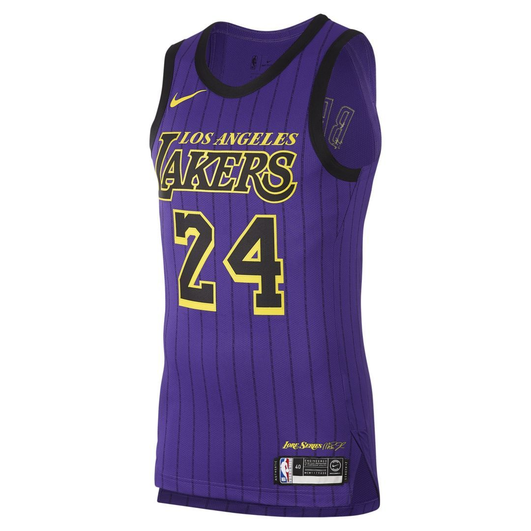 35157e618fa1f Kobe Bryant City Edition Authentic (Los Angeles Lakers) Mens Nike NBA  Connected Jersey Size 52 (Field Purple)