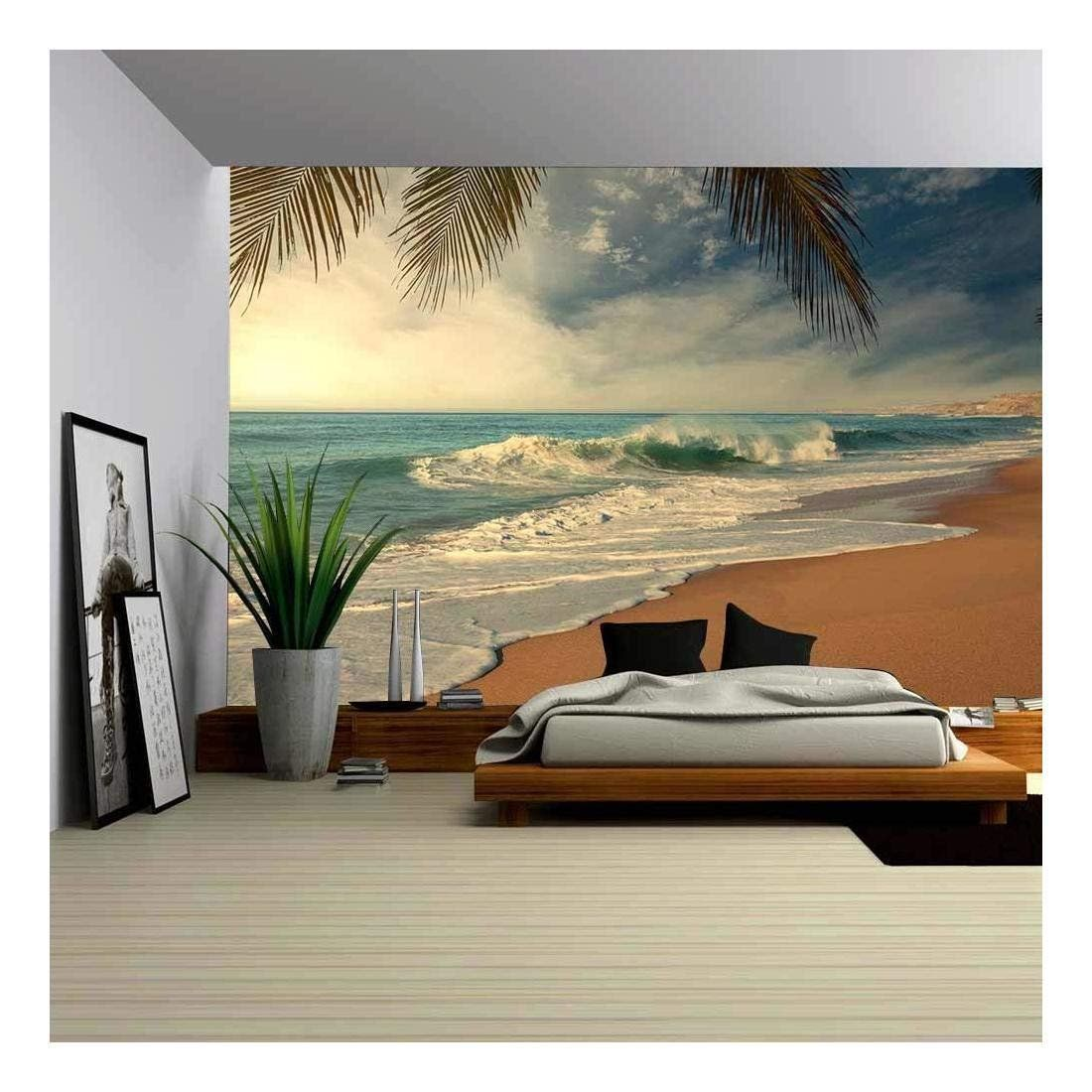 wall26 Tropical Beach Removable Wall Mural Self