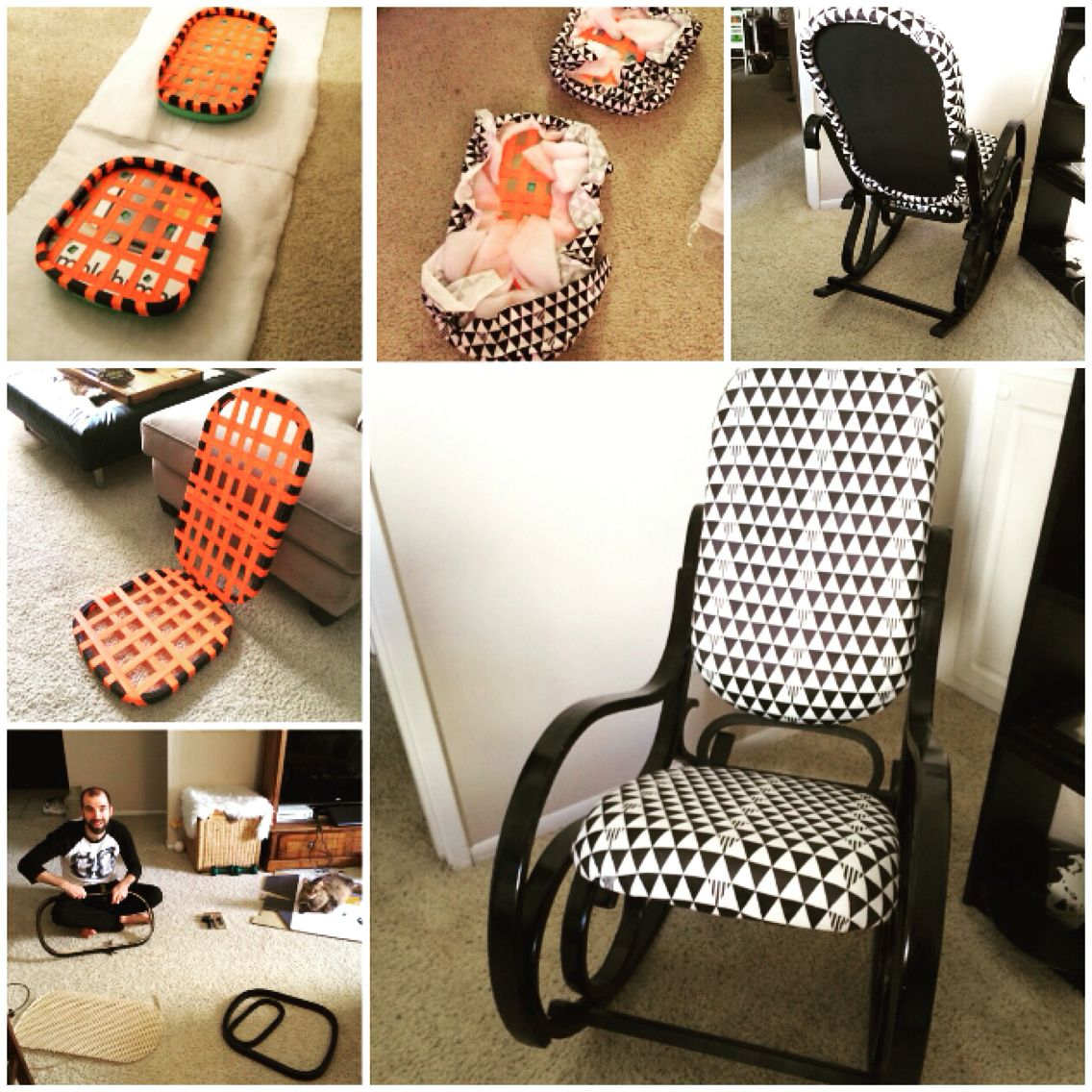 Bentwood rocking chair makeover - Vintage Thonet Bentwood Rocking Chair Makeover Perfect For The Nursery