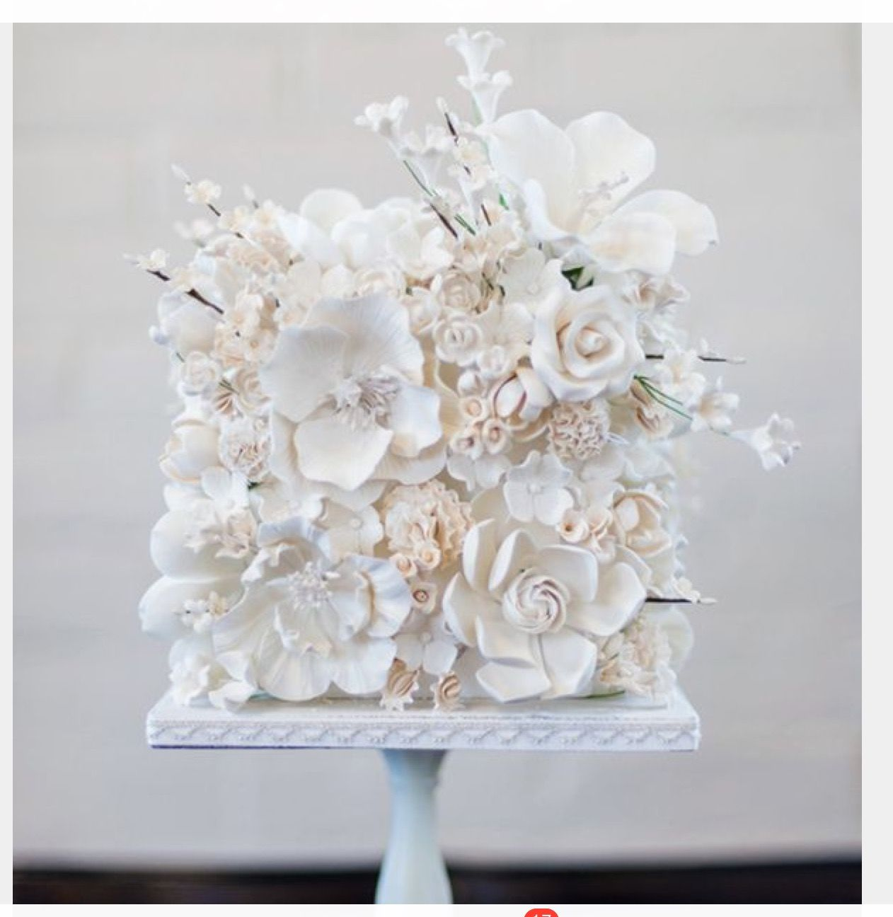 Single Tier Cake With Fresh White Flowers Axjikner In 2018