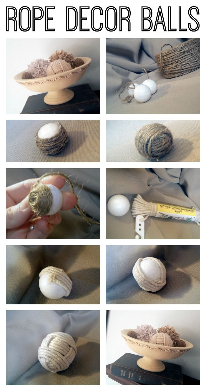 Balling In Love With Jute And Rope Best Crafts On Pinterest Diy