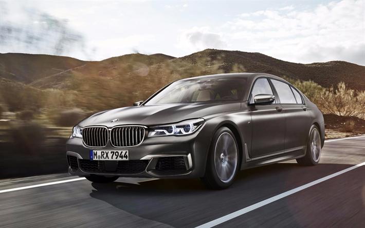 Imagenes De Autos De Lujo Para Fondo De Pantalla: Descargar Fondos De Pantalla BMW M760Li XDrive De 2017