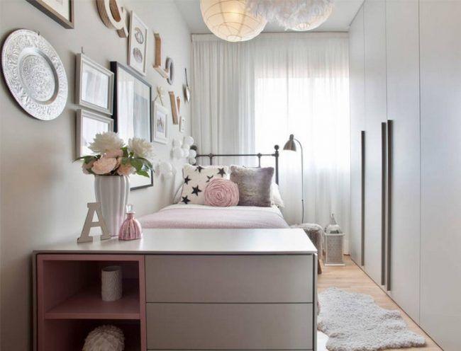 Kleines Kinderzimmer Einrichten Ideen Maedchen Shabby  Chic Grosser Kleiderschrank  Design