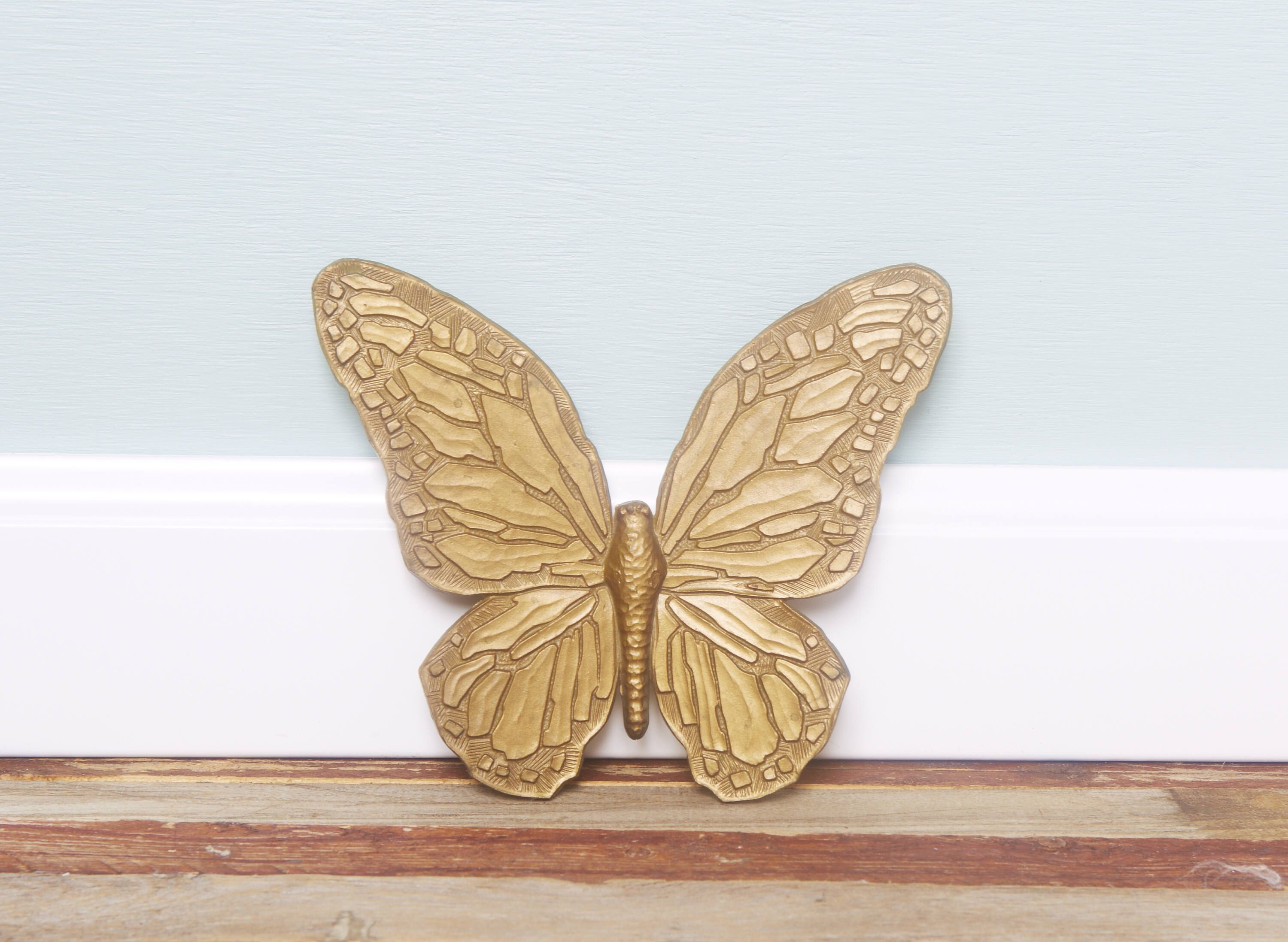 70\'s Wall Decor Vintage Butterfly Wall Hanging-Gold Butterfly ...