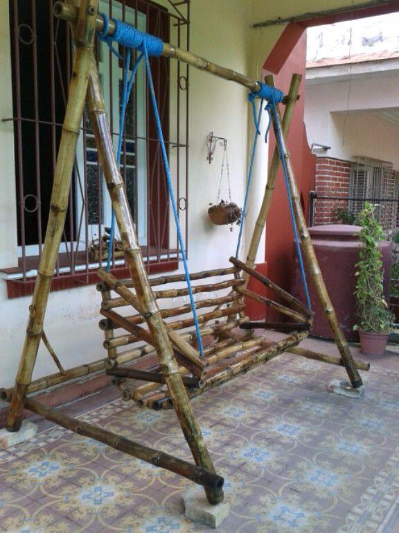 Balancoire En Bambou Bambou Idees Jardin Et Deco