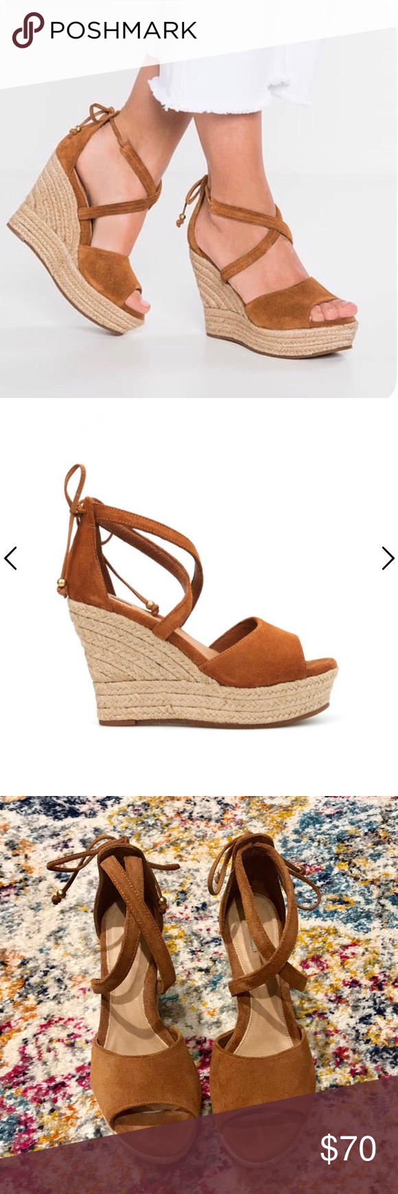 Ugg Reagan Chestnut Suede Wedges Womens Shoes Wedges