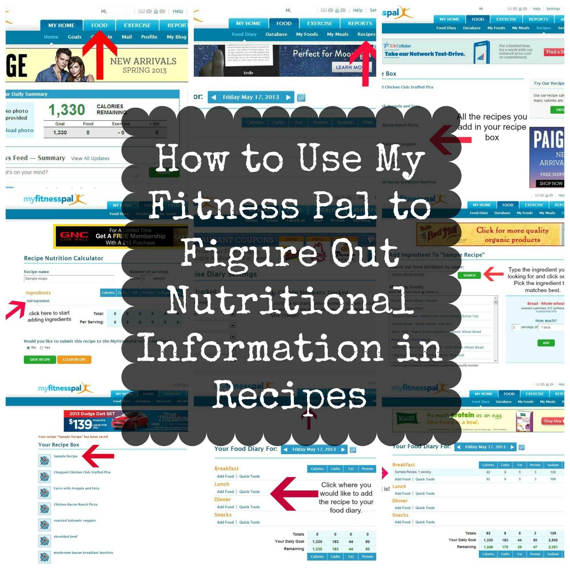 Food Recipe Calorie Calculator How To Use My Fitness Pal To Figure Out Nutritional
