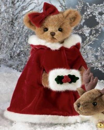 Bearington Frost E Bear Christmas Plush Stuffed Animal Teddy Bear in Snowman Suit 10 inches